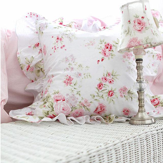 Pastoralen Garten Rose Druck Kissen Elegante Bettwäsche Kissenbezug