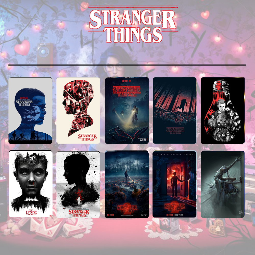 10pcs/set Montauk Stranger Things Eleven Card Stickers DIY Frosted Decal Phone Waterproof Stickers Souvenir Collection Gift Cool