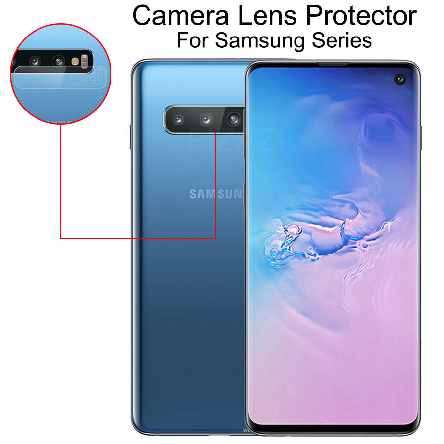2Pcs Camera Lens Tempered Glass For Samsung Galaxy A50 A30 A40 A70 A20 S10 S10E Note 10 Plus Pro Glass Protector Protective Film
