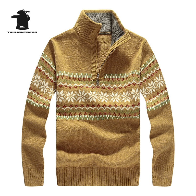 Brand New Mens Sweater Winter Designer Fashion Zipper Stand Collar Casual Wool Thicken Sweater Coat For Men Pullovers 2XL BF7801