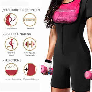 Image 4 - Full Body Shaper กับ Zipper BUTT Lifter เอวเทรนเนอร์ Shapewear หลังคลอดต้นขาเทรนเนอร์ปรับ Bodysuit Neoprene Jumpsuits
