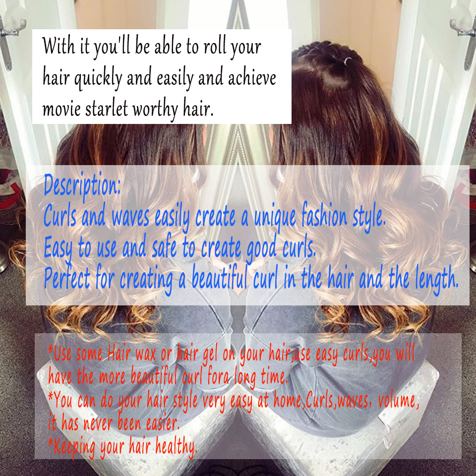 18pcs/set 55cm long diameter 2.5cm easy use hair curlers roller krullen bigoudhair roller spiral curlsrulos para rizar cabello