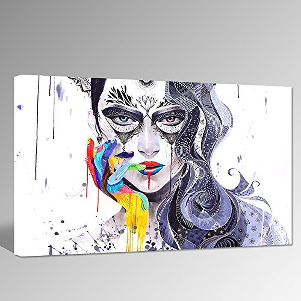 Abstract Women Face Canvas Font