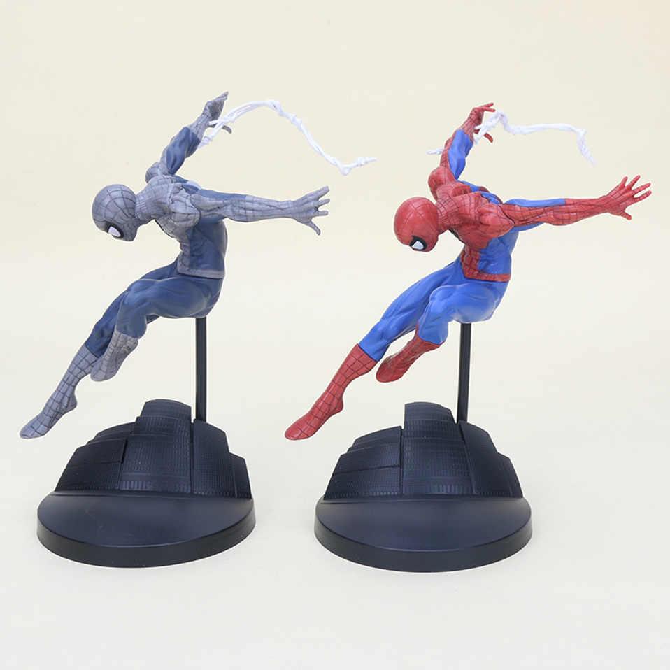 Vingadores super herói homem aranha brinquedos vermelho/cinza spiderman pvc figura de ação brinquedos incrível aranha-homem estátua modelo brinquedos presente