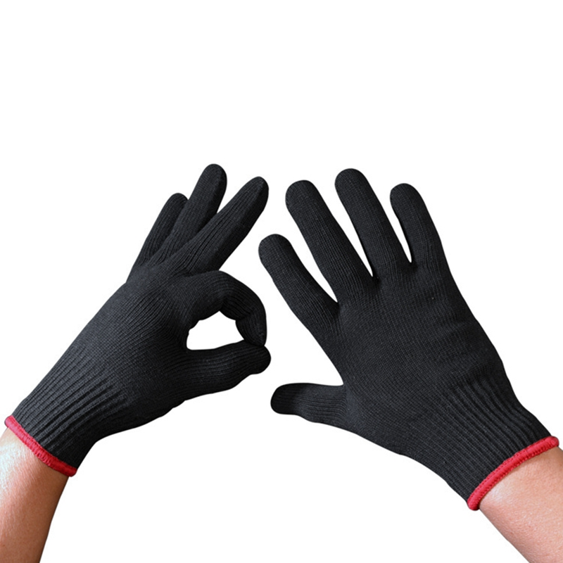 HOT Sale 1 Pair Hair Straightener Perm Curling Hairdressing Heat Resistant Finger Glove Black Color Direct Supply