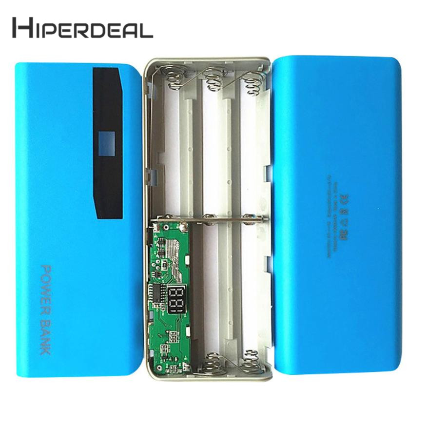 HIPERDEAL New LED Display 5X 18650 USB Power Bank Battery Charger Case DIY Box For iPhone Sumsang 18Jan08 Drop Ship F