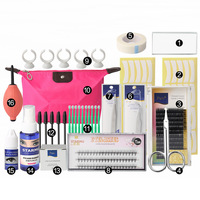 Professional Makeup Tool Kits Individual False Eyelash Extension Tools Set Eye Lashes Grafting Tools Kit 16 Pcs/set