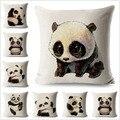 Nette Panda Kissen Fall Cartoon Tiere Leinen 45*45 cm Platz Kissen Abdeckung für Sofa Dekorative Printed Werfen kissenbezug