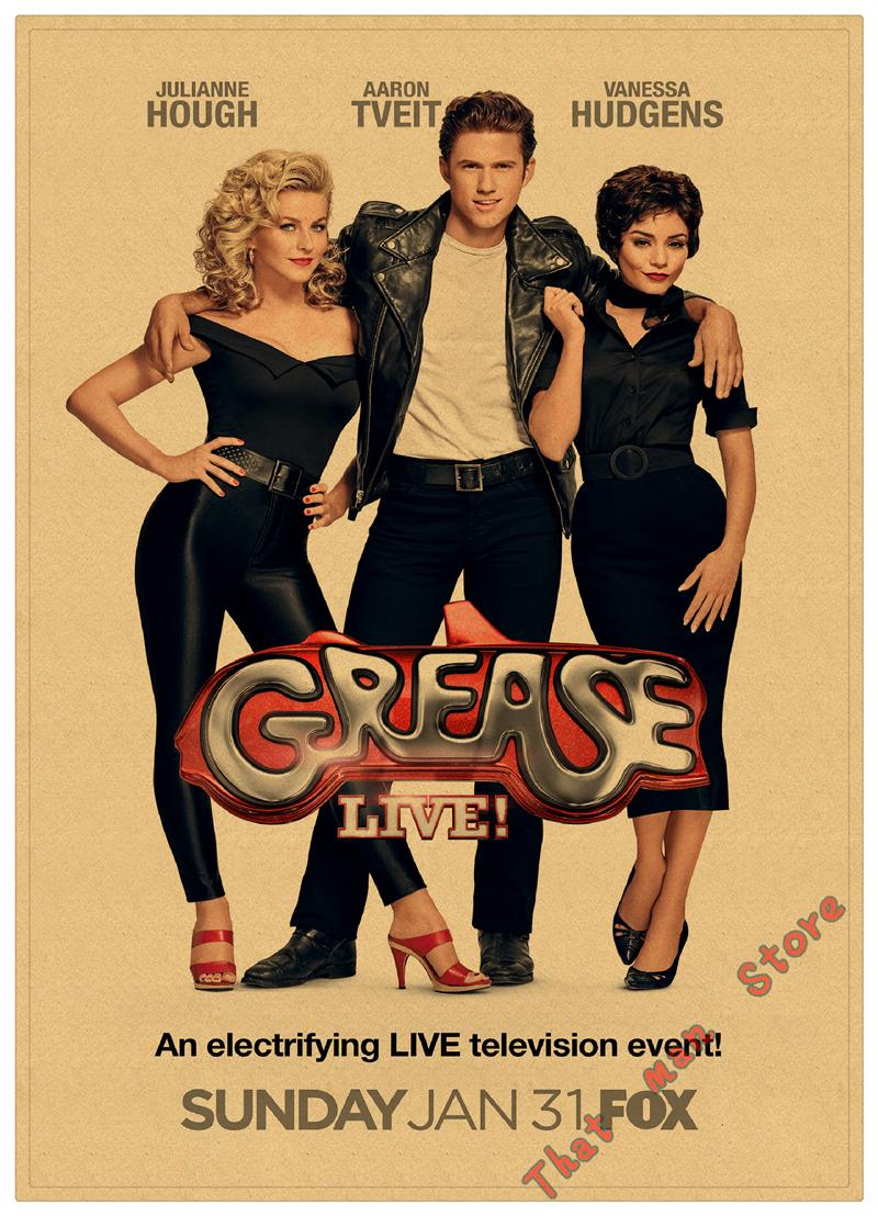 room decoration items Grease Movie Poster metal tin sign