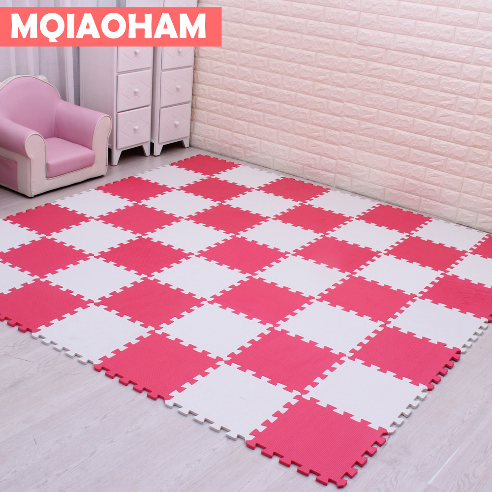 MQIAOHAM Baby EVA Foam Puzzle Play Mat /kids Rugs Toys carpet for childrens Interlocking Exercise Floor Tiles,Each:30cmX30cm