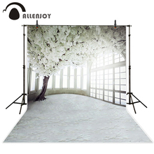 Allenjoy Background for photo Indoor tree with white flowers wedding light Camera photography fond studio photo
