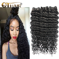 Deep Wave Brazilian Hair Bundles 3 Pcs Brazilian Deep Wave Curly Weave Human Hair QT Hair Products Brazilian Virgin Hair