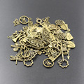 Nuevas ventas Calientes 50g (20 ~ 50 unids) Encantos Estilos Random Mix Arte hecho a mano DIY de La Joyería Colgante ajuste, toma de Plata Tibetano de La Vendimia de Bronce