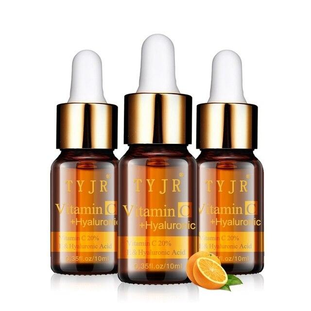 Vitamina C suero salpicaduras Freckle eliminar las arrugas esencia manchas oscuras desaparecer cuidado sin edad limpieza cuidado Facial cuidado de la piel 1511
