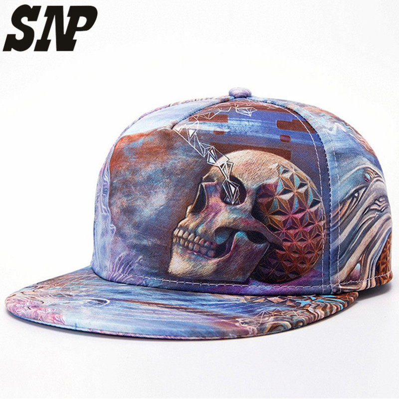 print Snapback Baseball Caps for Men's Women's cap with straight visor caps Male Hip hop gorras hombre mujer casquette hat style стоимость