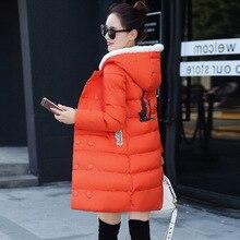 2016 новые женские зимние с длинным рукавом С Капюшоном Пальто темперамент тонкий длинный зимнее пальто куртки Mianfu