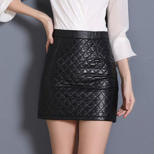 2019 Women Slim Genuine Sheep Leather Skirt P12