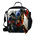Hot Cartoon Lunch Bag Kids School Character Optimus BUMBLEBEE Megatron Lunch Bag Thermal Cooler For Children For Boys Picnic Bag