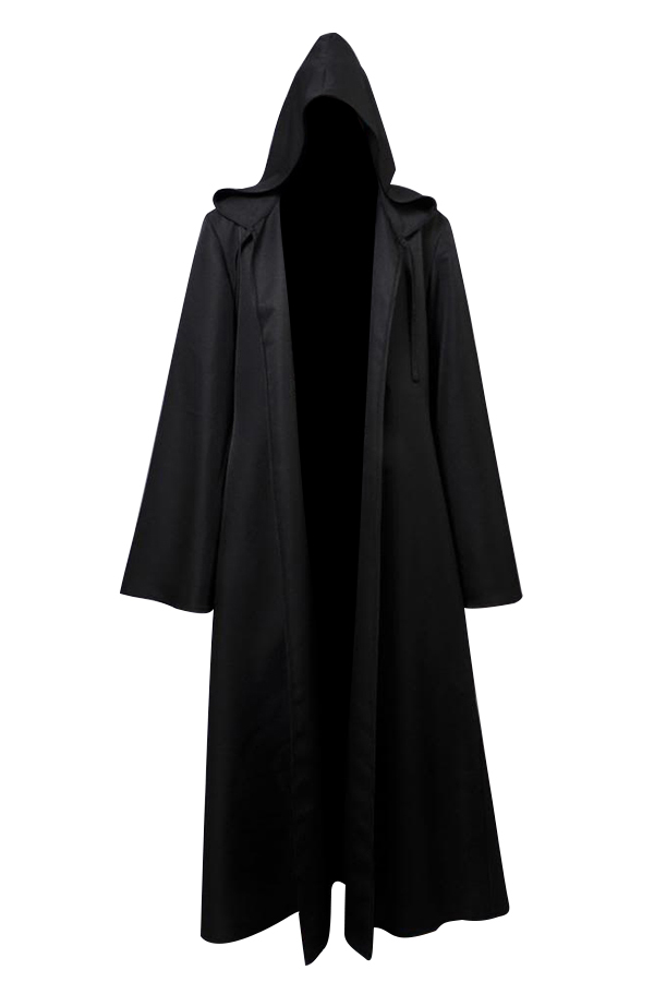 Black hooded cloak
