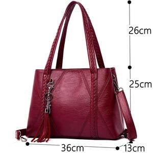 Image 3 - New Leather Tassel bags Large Capacity Women Shoulder Messenger Bag Handbag Famous Big Bag Designer Handbags High Quality Sac