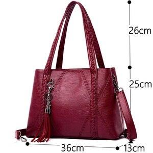 Image 3 - Yeni deri püskül çanta büyük kapasiteli kadın omuz askılı çanta çanta ünlü büyük çanta tasarımcı çantaları yüksek kaliteli Sac