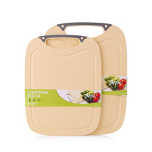 Beihe BPA Free Elegant Plastic Cutting Board Skid Resistance Oblong Chopping Block Meat Fruit Vegetable Cooking Board, BH361