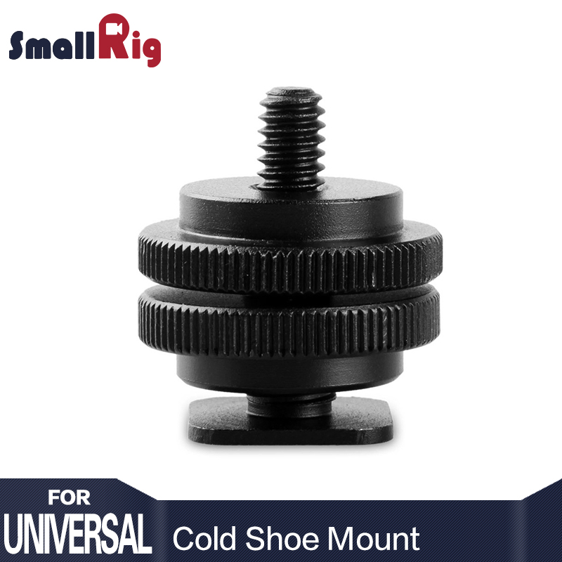 лучшая цена SmallRig Tripod Screw to Flash Hot Shoe Mount Adapter with 3/8 to 1/4 thread Screw Size Transfer - 0814