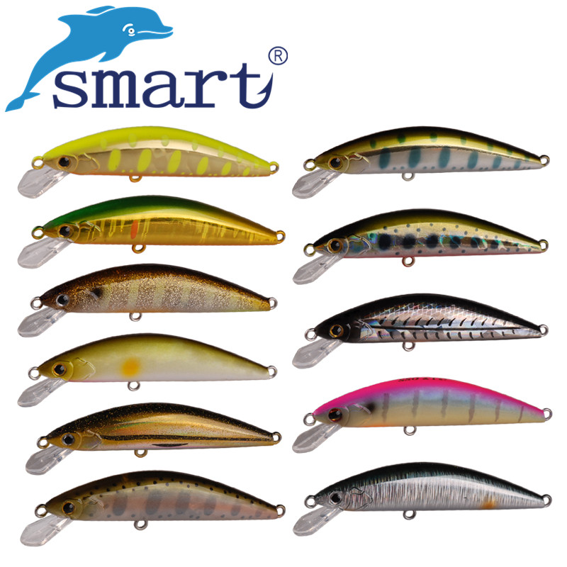 SMART Sinking Minnow Bait 65mm/5g Hard Fishing Lure VMC Hook Isca Artificial Para Pesca Leurre Souple Peche Wobblers amlucas minnow fishing lure 110mm 9 5g crankbait wobblers artificial hard baits pesca carp fishing tackle peche we266