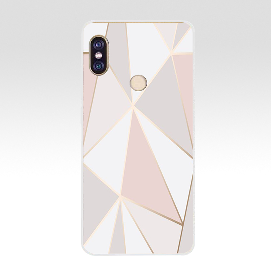 64G Pink Blue Ink Marble Soft TPU Silicone Cover Case For Xiaomi Redmi 5 Plus Note 5 Pro Mi 8