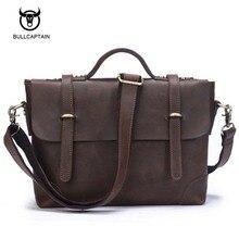 Men genuine leather bag messenger Bag Man Crossbody Shoulder Bag Business Tote Briefcases Cow Crazy Horse Leather Brand Handbags