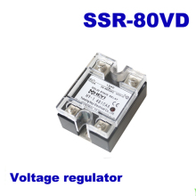 80A SSR,input DC 0-10V single phase ssr solid state relay voltage regulator цена