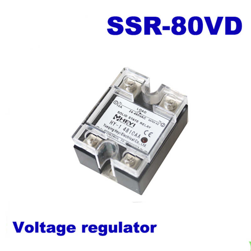 80a Ssr Input Dc 0 10v Single Phase Ssr Solid State Relay