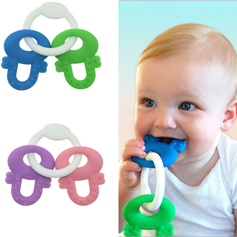 pudcoco Safety Baby Infant Newborn Toddler Teether Chew Toy Molar Rod Silicone Soft Teeth Stick Useful