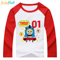 Jiuhehall 2017 New Style 2 to 6 years old boy girl t shirts full cotton kids clothes long sleeve children t-shirts DCM070