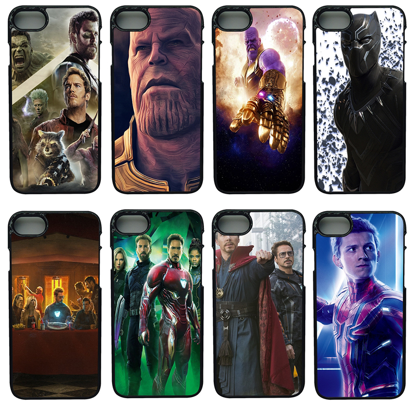 Fashion Avengers Infinity War Mobile Phone Cases Hard PC Cover For iphone 8 7 6 6S Plus X 5S 5C 5 SE 4 4S iPod Touch 4 5 6 Shell