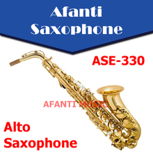 Afanti Music Eb tone / Brass body / Gold finish Alto Saxophone (ASE-330)