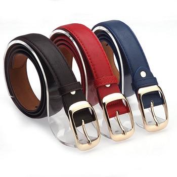 2019 New Arrival Leather Belt Woman Top Quality Belts for Women Cinto Feminino Black White Brown Leopard Belt Strap Female