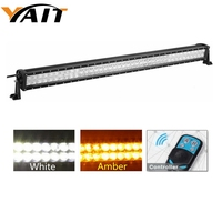 42 LED Light Bar Amber White Dual Color 240W Spot Flood Combo Beam Automotive Off road Driving Fog Lights with remote control