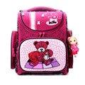 Nueva moda delune niños perros lindo oso de dibujos animados niñas mochilas escolares a prueba de agua plegable mochilas niños bolsas escuela ortopédica