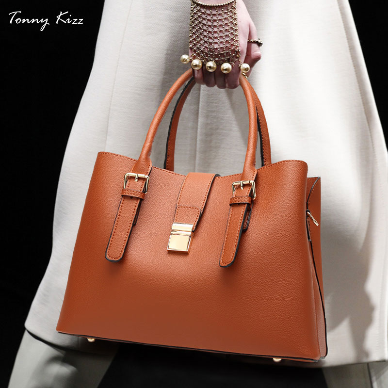 Tonny Kizz business bags for women tote leather female shoulder OL style lady luxury handbags designer bolsa feminina