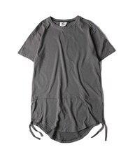 Hombres ropa de hip hop camiseta kanye west extendida con palangre camisetas streetwear hombre bigbang swag tee shirts camisetas hombre