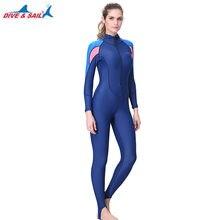 55416c64a8a96 Women Full Body Stinger Swimsuit Dive Skin Sun UV Protection Swimwear UPF50+  Blue Long Sleeve Rash
