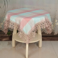 NEW Cotton Plaid Puzzle Embroidery Lace European Tablecloth Kitchen Restaurant Placemat Table Cloth Christmas Wedding Decoration