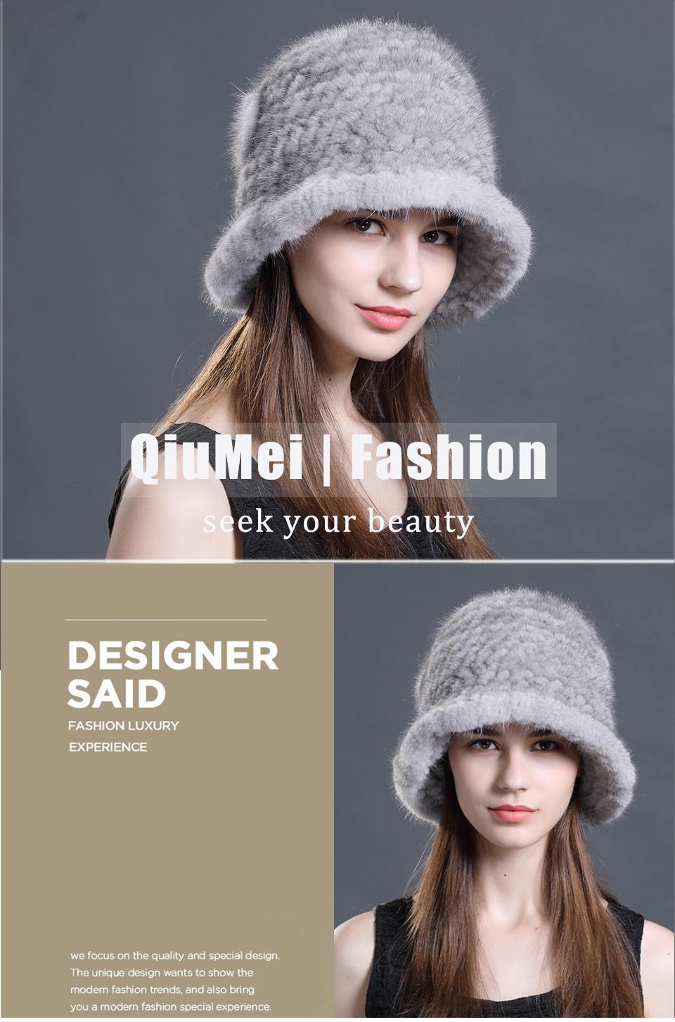 1bbce62c99dbe9 Woman Hat Winter Solid Mink Caps With Flower Natural Mink Fur Hats ...