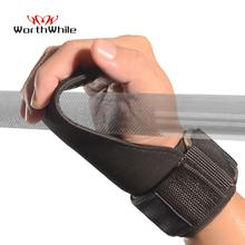 цена на WorthWhile Hand Grips Gymnastics Gloves for Gym Fitness Power Weight Lifting Palm Crossfit Workout Bodybuilding Wrist Support