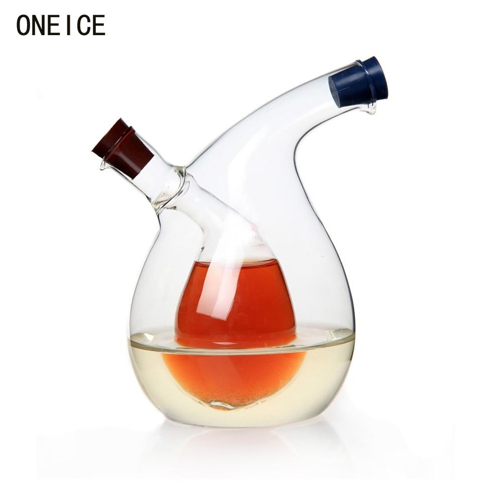 Mehrzweck Große Küche Gewürz Öl Flasche Grün Glas Öler Kann Öl - Home Storage und Organisation - Foto 2