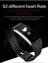 Bluetooth Smart talkband S2 умный браслет bluetooth двойного режима сна Мониторы Сердечный Ритм Группа Шагомер Смарт Браслет
