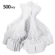 500 шт цена бирки галстук-ленточка часы ювелирные изделия дисплей товара бумажный ценник карты прямоугольные пустые этикетки для цены