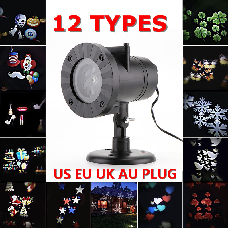 Christmas Decoration Waterproof Outdoor LED Stage Lights 12 Types Christmas Laser Snowflake Projector lamp  Garden Star Light outdoor garden decoration waterproof elf christmas lights star laser projector showers lantern flashlight stage light