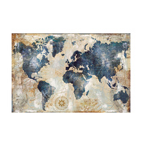 Big Size Vintage Watercolor World Map Painting Canvas Painting Posters and Prints Wall Picture for Living Room Cuadros Decor
